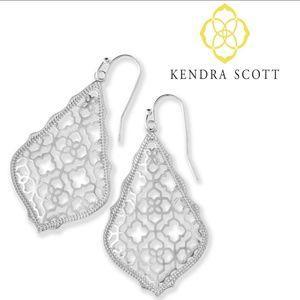 ■Kendra Scott■ Silver Addie Filigree Earrings